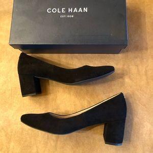 Cole Haan suede block heels